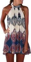 KOINECO Women's Sleeveless Summer Beach Cover Ups Halter Dress Tops