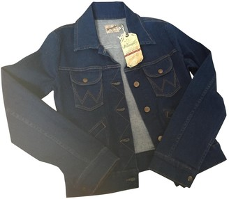 Wrangler Blue Cotton Jacket for Women