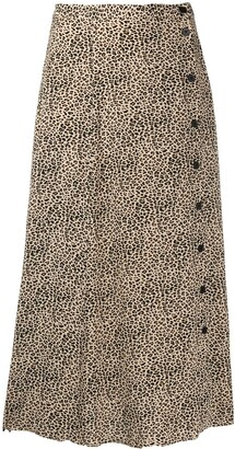 Zadig & Voltaire June leopard-print skirt