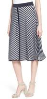 Nic+Zoe Women's Chevron Stripe Knit Skirt