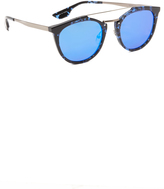 McQ by Alexander McQueen Alexander McQueen Oxford Mirrored Sunglasses
