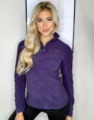 Protest Mutez 1/4 zip fleece in purple