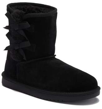 Koolaburra BY UGG Victoria Faux Shearling Lined Suede Short Boot (Toddler, Little Kid, & Big Kid)