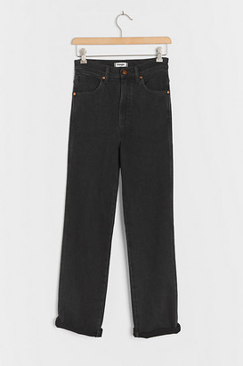 Wrangler High-Rise Straight Jeans By in Black Size 29
