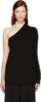 Jil Sander Black Cashmere Single-Sleeve Sweater