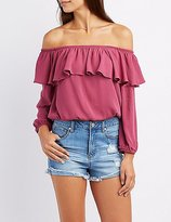 Charlotte Russe Ruffle Off-The-Shoulder Top