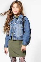 boohoo Girls Embroidered Denim Jacket