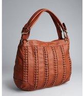 Big Buddha cognac faux leather braided oversize 'Granada' hobo bag