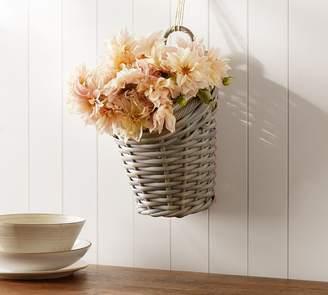 Pottery Barn Aubrey Woven Hanging Basket