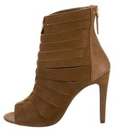Jerome Dreyfuss Peep-Toe Cage Ankle Boots w/ Tags