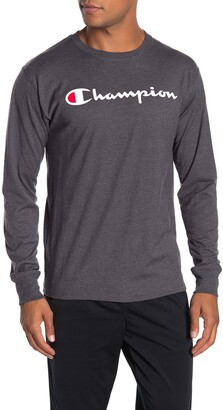 Champion Classic Logo Print Long Sleeve T-Shirt
