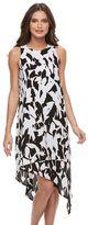 Apt. 9 Petite Printed Asymmetrical Crepe Dress