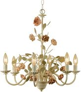 AF Lighting Ramblin' Rose 6-Light Chandelier in Antique Cream