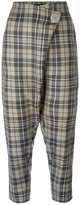 Vivienne Westwood checked cropped trousers - women - Cotton/Polyester/Virgin Wool - 42