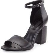Alexander Wang Abby Tilt-Heel City Sandal, Black