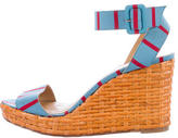 Kate Spade Striped Wedge Sandals