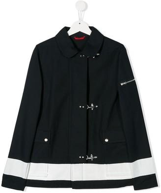 Fay Kids Bold Stripe Coat