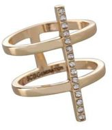 BCBGeneration Cubic Zirconia Studded Two-Row Ring