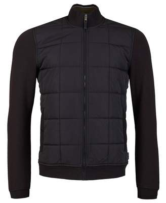 Ted Baker Quilted Front Jacket Colour: BLACK, Size: MEDIUM