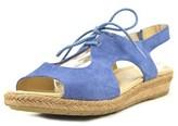 Naturalizer Reilly Women Open-toe Suede Blue Slingback Sandal.