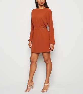 New Look AX Paris Long Sleeve Belted Dress