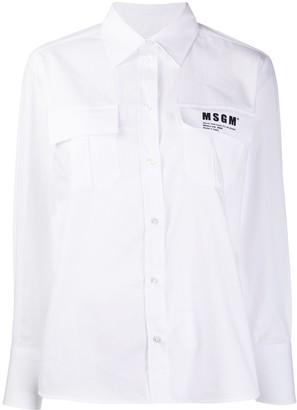 MSGM Patch-Pocket Shirt