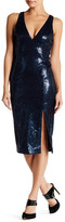 Jay Godfrey Rye V-Neck Sequin Midi Dress