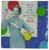 """Hallmark New Year Beverage Napkins """"Time to Ring in the New Year"""""""