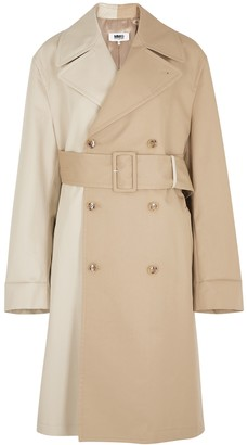 Maison Margiela Panelled double-breasted twill trench coat