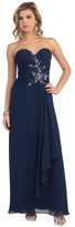 May Queen - Strapless Sweetheart A-Line Gown with Three-Quarter Sleeves MQ838