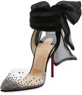 Christian Louboutin Miragirl Ankle-Wrap Red Sole Pump, Black