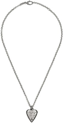 Gucci Silver necklace with engraved heart