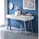 Kelemen Desk Brayden Studio Color: White