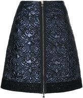 D-Exterior D.Exterior - quilted A-line skirt - women - Polyester/Wool - 44
