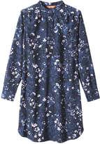 Joe Fresh Women's Floral Print Shirt Dress, Black (Size M)