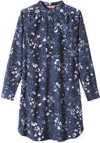Joe Fresh Women's Floral Print Shirt Dress, JF Midnight Blue (Size S)