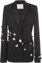 Prabal Gurung Long Sleeve Jacket With Floral Embellished Appliques