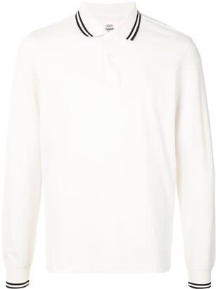 Kent & Curwen Striped Trim Long-Sleeve Polo Shirt