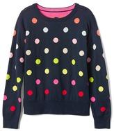Gap Rainbow dot crew sweater