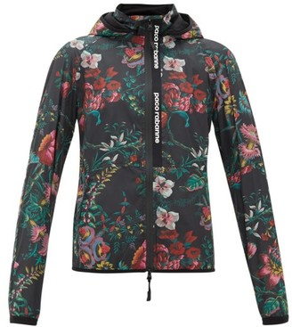 Paco Rabanne Floral-print Technical Hooded Jacket - Womens - Multi
