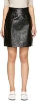 Carven Black Leather Miniskirt