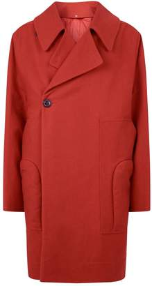 Rick Owens Oversized Asymmetric Overcoat