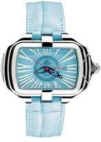 Prima Donna Gio Monaco Women's 302-A PrimaDonna Rectangular Blue Alligator Leather Date Watch