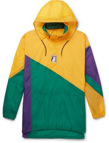 Balenciaga Colour-Block Shell Hooded Jacket
