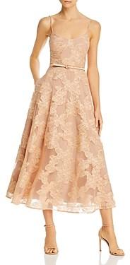 SAU LEE Fleur Floral-Lace Dress