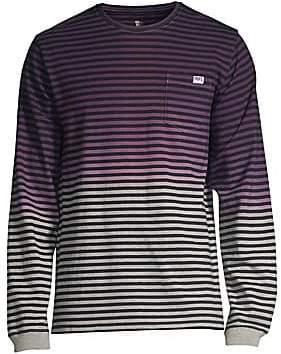 a4871d48 PRPS Men's Multicolor Faded Stripe Long Sleeve Tee
