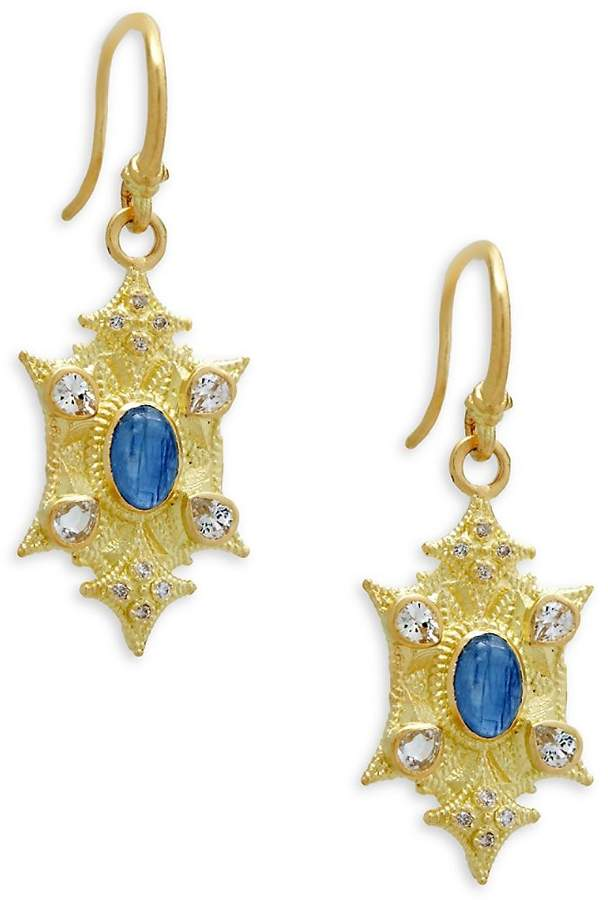 Armenta Women's Diamond, Kyanite & White Sapphire Earrings