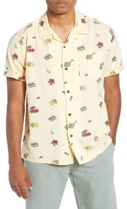Hurley Kingston Short Sleeve Button-Up Camp Shirt