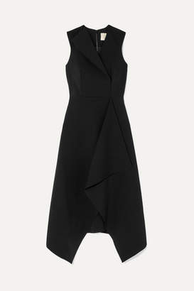 Dion Lee Folded Sail Draped Stretch-cady Midi Dress - Black