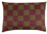 Found Object Hand Embroidered Kantha Pillow